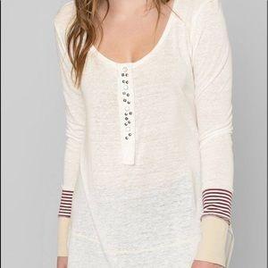 Henley tunic top